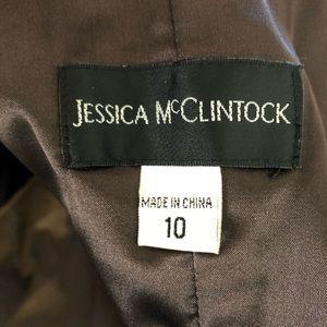 Jessica McClintock Dresses - Jessica McClintock Bronze Bow Strapless Dress 10